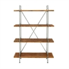 Chic Wood Metal 4-tier Shelf, Grey, Brown