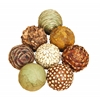 Benzara Natural Ball S/6 For Short Spaces On Tables Or Shelves