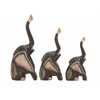 "Benzara Wood Elephant Set Of 3 7"", 8"", 9""H"