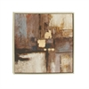 Contemporary Framed Canvas Art, Shades of brown