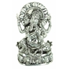 Benzara Polystone Ganesh With Antique Silver Finish