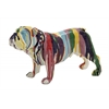 Benzara Beautiful And Colorful Polystone Bulldog