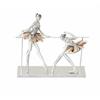 "Polystyrene Ballet Dancers 12""W, 11""H"
