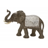 "Benzara Polystyrene Mirror Elephant 30""W, 19""H"