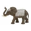 "Benzara Polystyrene Mirror Elephant 20""W, 13""H"