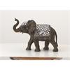 "Benzara Polystyrene Mirror Elephant 14""W, 10""H"