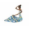 "Benzara Polystyrene African Lady 12""W, 11""H"