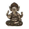 Striking Ps Gold Ganesha, Antique Silver, Gold
