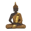 Enchanting Ps Sitting Buddha, Gold and Brown