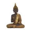 Enigmatic Ps Sitting Buddha, Gold