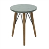 Wood Metal Accent Table, Grey