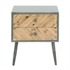 Exclusive Wood Small Cabinet, Grey And Brown