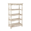 Sturdy Wood Metal Shelf, Off White
