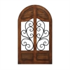 Chic Wood Metal Wall Decor, Brown