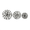Marvelous Metal Acrylic Ball, Black and Steel, Set Of 3