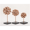 Classy Metal Copper Sculpture, Copper and Black, Set Of 3