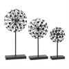 Charming Metal Acrylic Sculpture Set Of 3