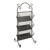 Fancy Metal 3 Tier Rack Black, Black
