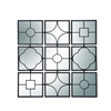 Amazing Metal Square Wall Decor, Black