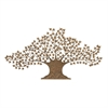 Stunning Metal Tree Wall Decor, Golden