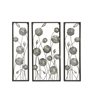 Lovely Metal Silver Wall Decor, Silver and Black, Set Of 3