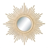 Fashionable Metal Wall Mirror, Golden