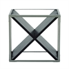 Remarkable Metal Wood Wine Rack, Black & Silver