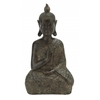 Benzara Brown Polystone Buddha Decor 9 Inches Wide