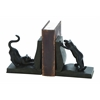 Benzara Polystone Cat Bookend Pair For Books Lovers