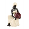 "Table Top Polystone African Figure 10""H, 6""W Sculpture"