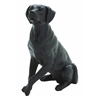 Benzara Attentive And Observant Poly Stone Sitting Dog Statue