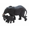 Mother And Baby African Elephant Poly Stone Statue In Loving Embrace