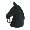 Decorative Poly Stone Horse Head With Hammered Nail Pattern
