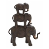 Benzara Poly Stone Elephant Stack Of Three