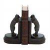 A Pair Of Adorable Poly Stone Leaning Cat Bookend