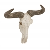 Benzara Matchless Polystone Wall Steer Skull