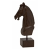 Benzara Slick And Polished Polystone Horse Head