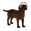Benzara Uniquely Cute Polystone Dog Headphones