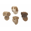 Benzara Lovely Polystone Dog Wall Decorative Set Of 4