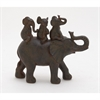 Adorable Ps Elephant Family, Antique Dark Brown