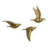 Beautiful PS Bird Wall Decor, Golden, Set Of 3