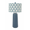 "Ceramic Metal Blue Table Lamp 30""H"