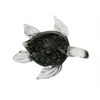 "Benzara Glass Sea Turtle 7""W, 2""H"
