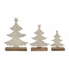 Benzara Dazzling Set Of 3 Metal Wood Xmas Tree