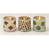 "Benzara Glass Mosaic Candle Votive Set Of 3 4""W, 5""H"