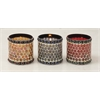 "Glass Mosaic Candle Votive Set Of 3 4""W, 5""H"