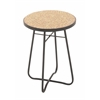 """Metal Glass Round Brown Side Table 16""""W, 23""""H"""