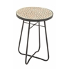 "Benzara Metal Glass Round Side Table 16""W, 23""H"