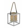 """Amazing Metal Mosaic Lantern 8""""W, 10""""H"""