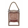 "Benzara Wonderful Metal Mosaic Lantern 8""W, 10""H"